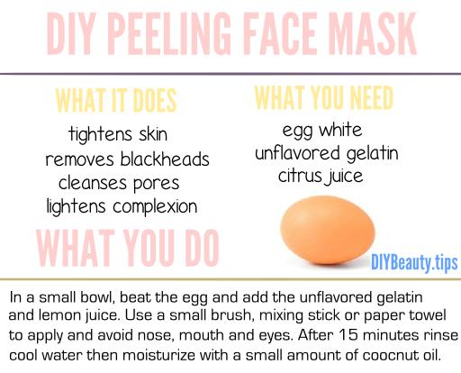 DIY Peeling Face Mask