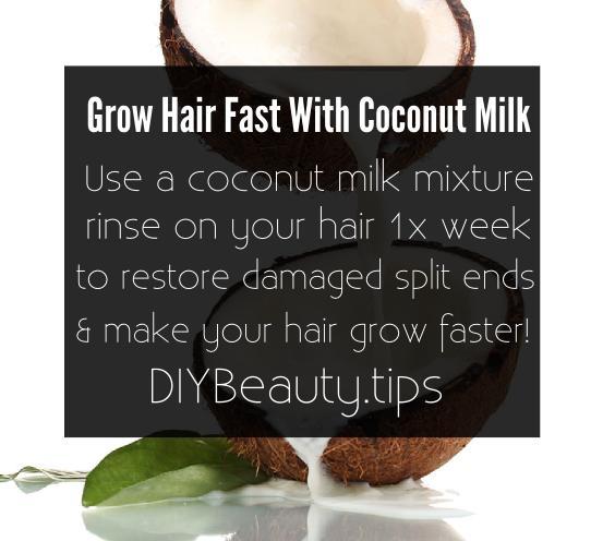 Grow Hair Faster Using Coconut Milk