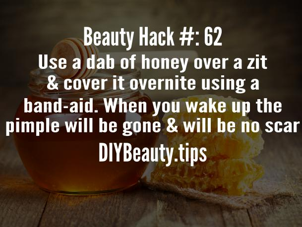 Beauty Hack - Get rid of pimples using honey!
