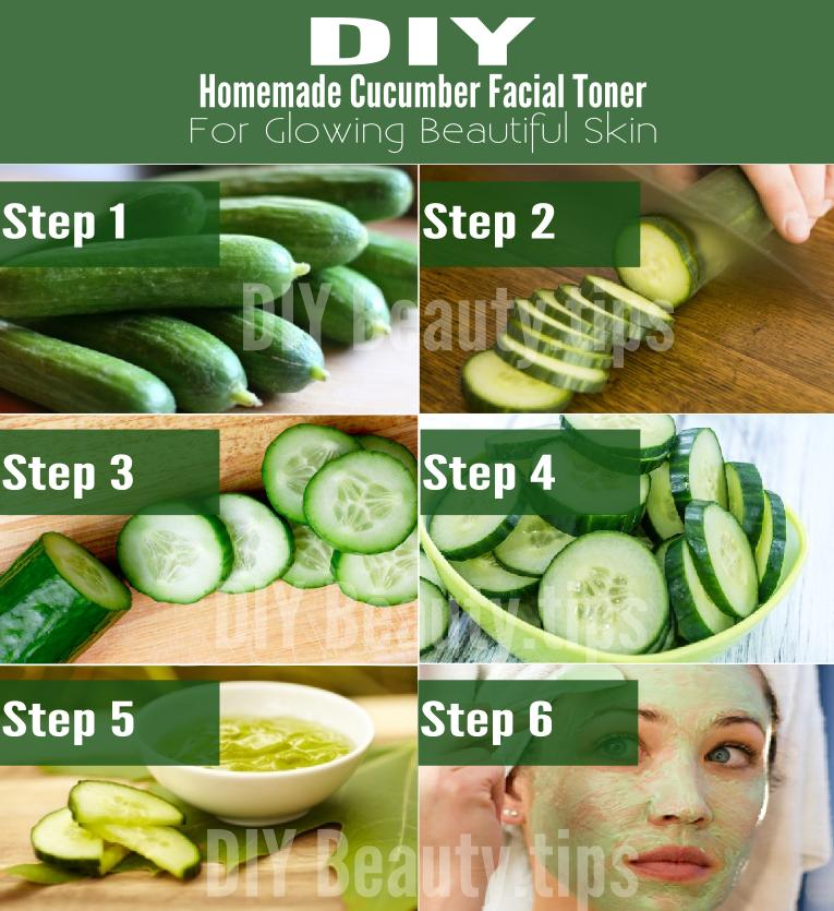 DIY Homemade Cucumber Facial Toner